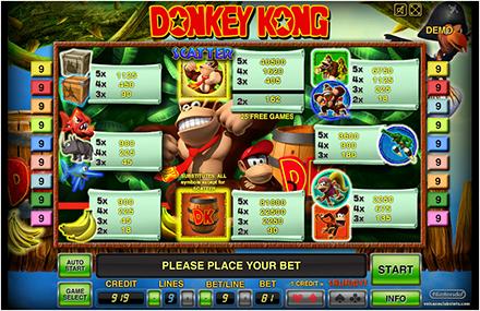 Интерфейс виртуального игрового автомата