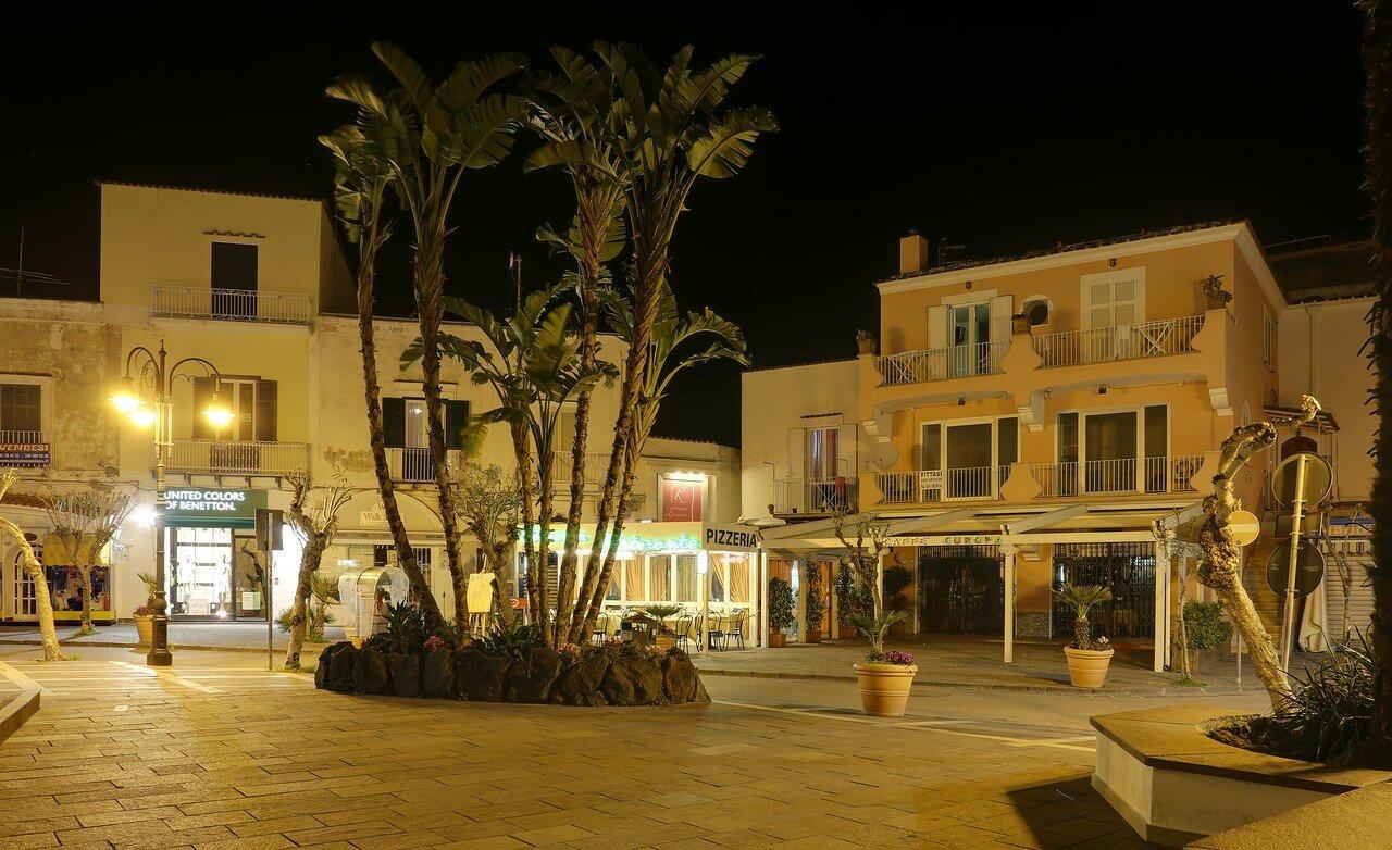 Ischia Porto at night