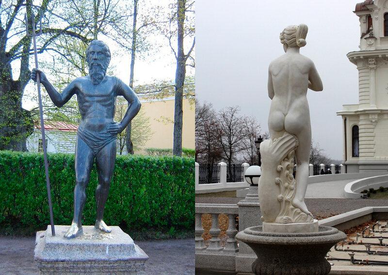 Нептун (1716) в Петергофе и Венера (2014) в асеевском особняке