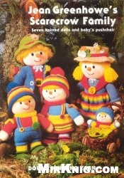 Книга Jean Greenhowe's scarecrow family: Seven knitted dolls and baby's pushchair