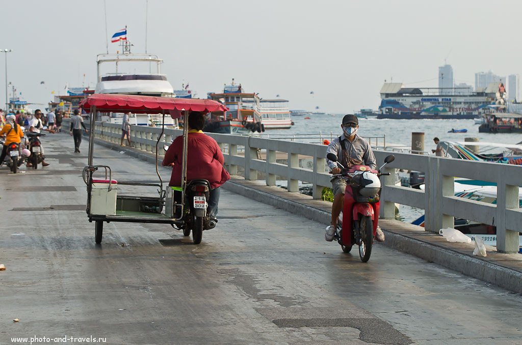 6. Причал Bali Hai в курорте Паттайя. 1/500 секунды, А, f/7.1, ФР=70 мм, ISO 250.