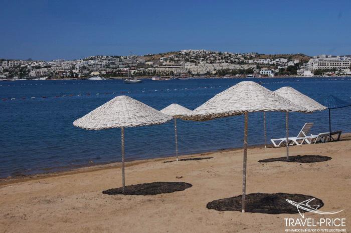 Пляж возле отеля Club Mira Luna