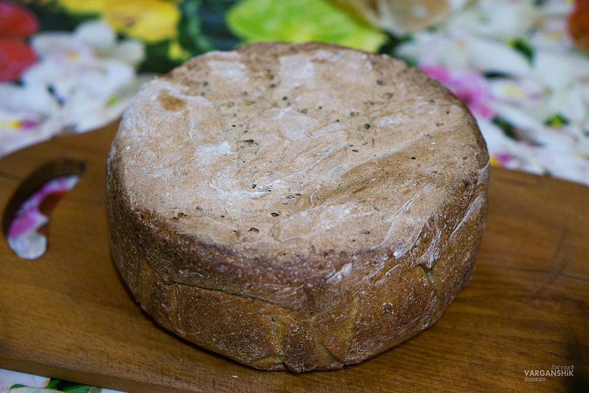 Ночной хлеб домашний ржаной на закваске Варганчик