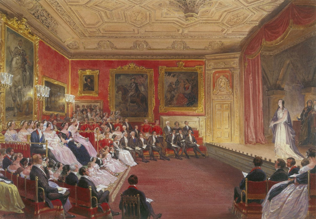 Выступление Макбет в Рубенса номер, Виндзорский замок, 4 февраля 1853 года