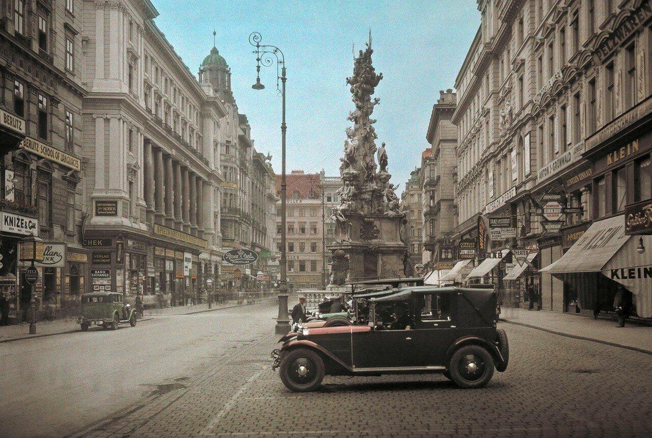 1937. Австрия. Чумная колонна в Вене