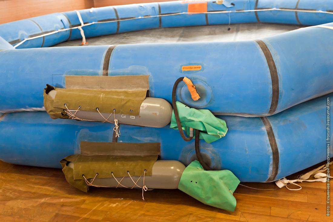 система газонаполнения спасательного плота фото