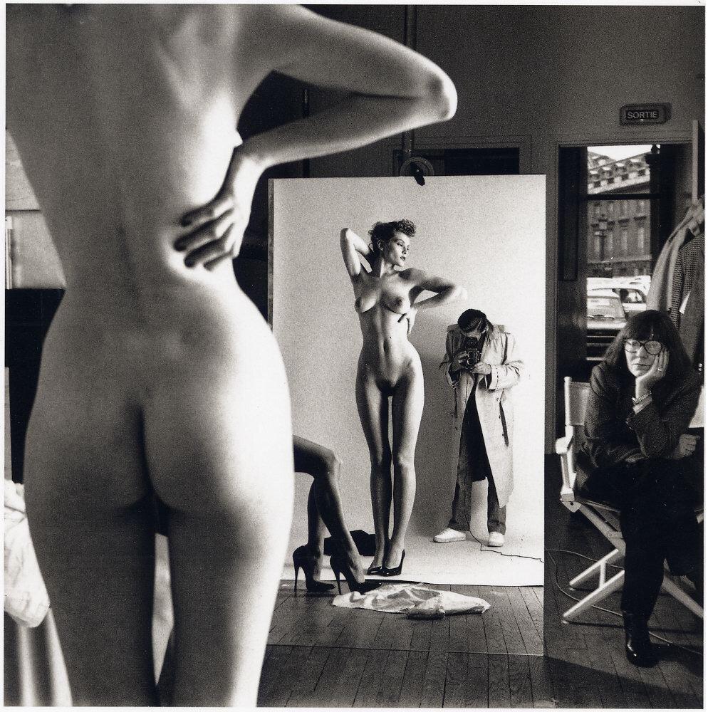 Хельмут Ньютон (1920-1994). Автопортрет с женой Джун и моделью.jpg