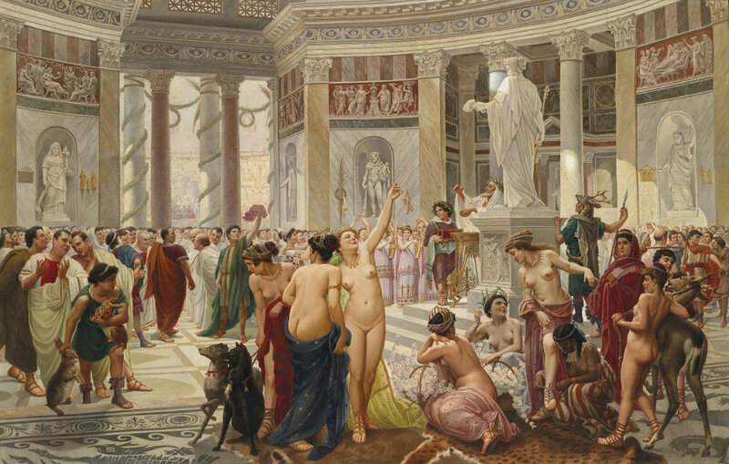 оргии в древних храмах