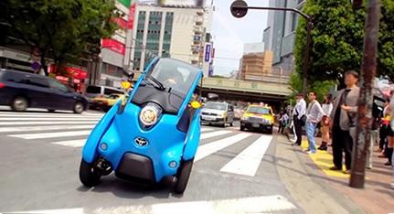 Электромобиль I-Road - стильный и мобильный