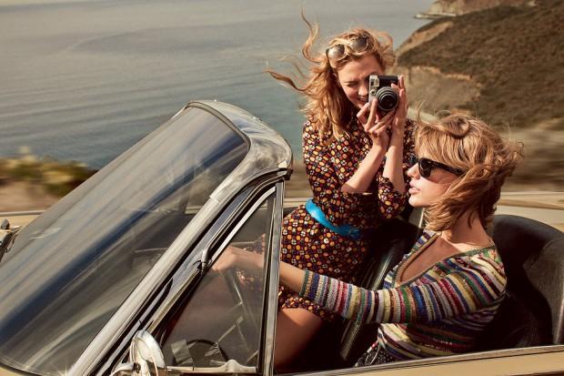 Тейлор Свифт (Taylor Swift) и Карли Клосс (Karlie Kloss) в журнале VOGUE (9 фото)