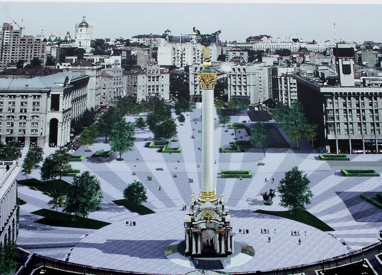 Новый вид Майдана Незалежности