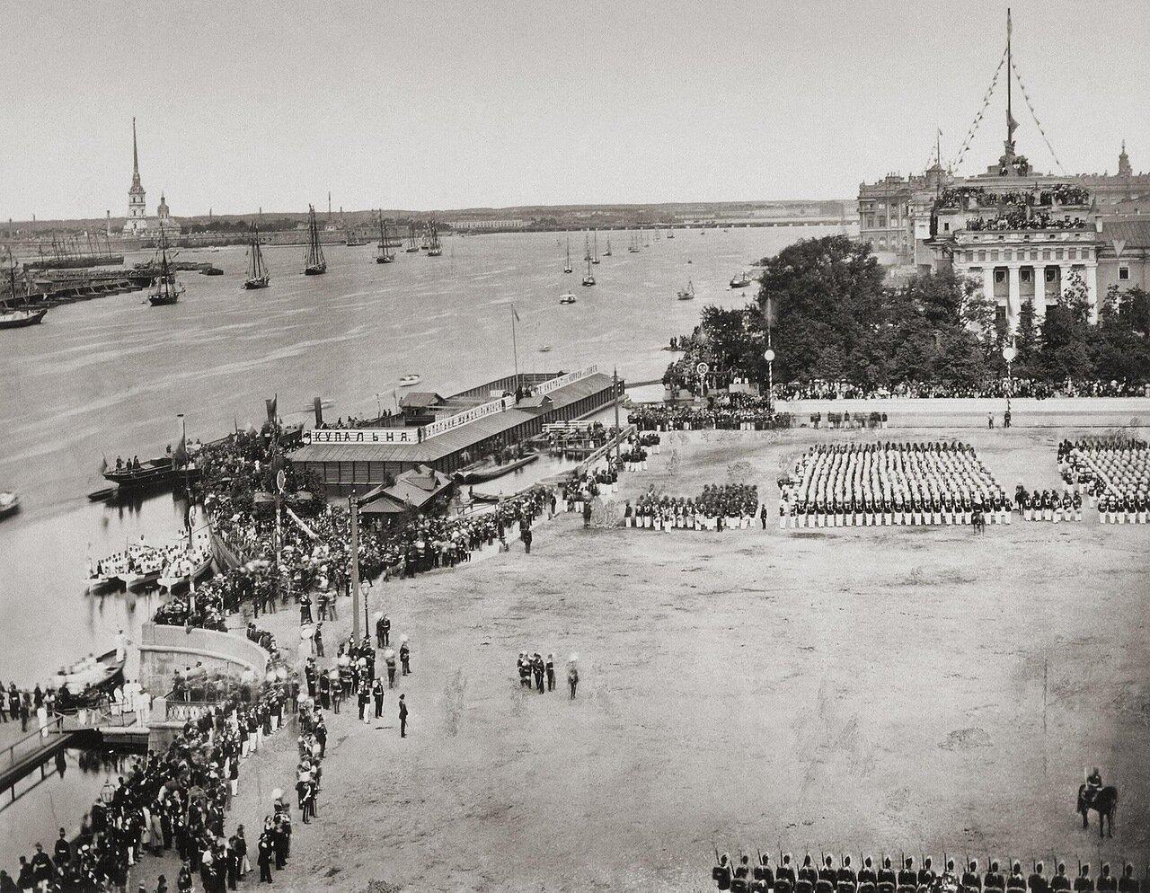 Торжества на Неве во время празднования юбилея Петра I 1872
