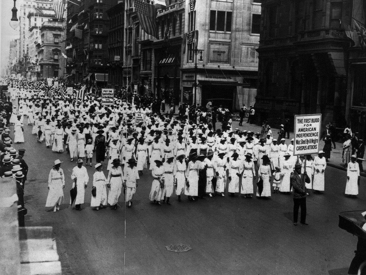 1917. 28 июля, тихая манифестация Негритянской Ассоциации