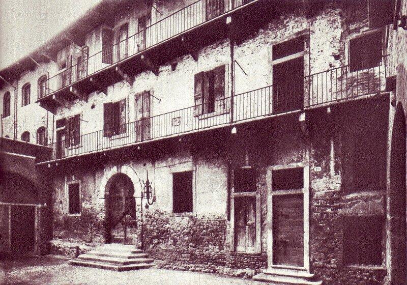 Двор дома семьи Капелло, более известный, как дом Джульетты 1890е.jpg