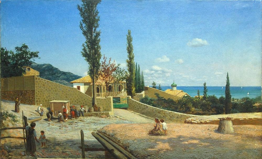 Киселёв А.А. Крымский пейзаж. Вид Ялты. 1876 г..jpg