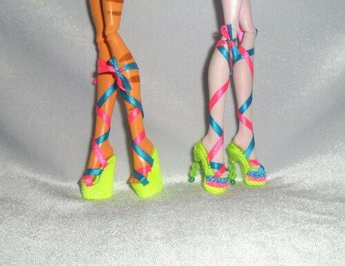 Как сделать обувь для куклы монстер хай