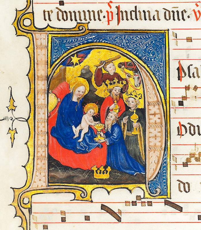 illuminated Antiphonary on vellum, France, Tournai (?), 1400-1410