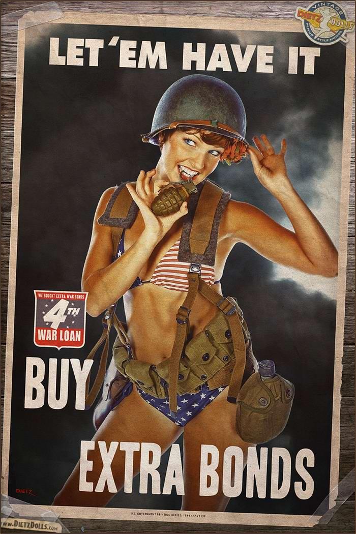 Армейский pin-up в стиле 1940-х годов от американского художника Britt Dietz (2)