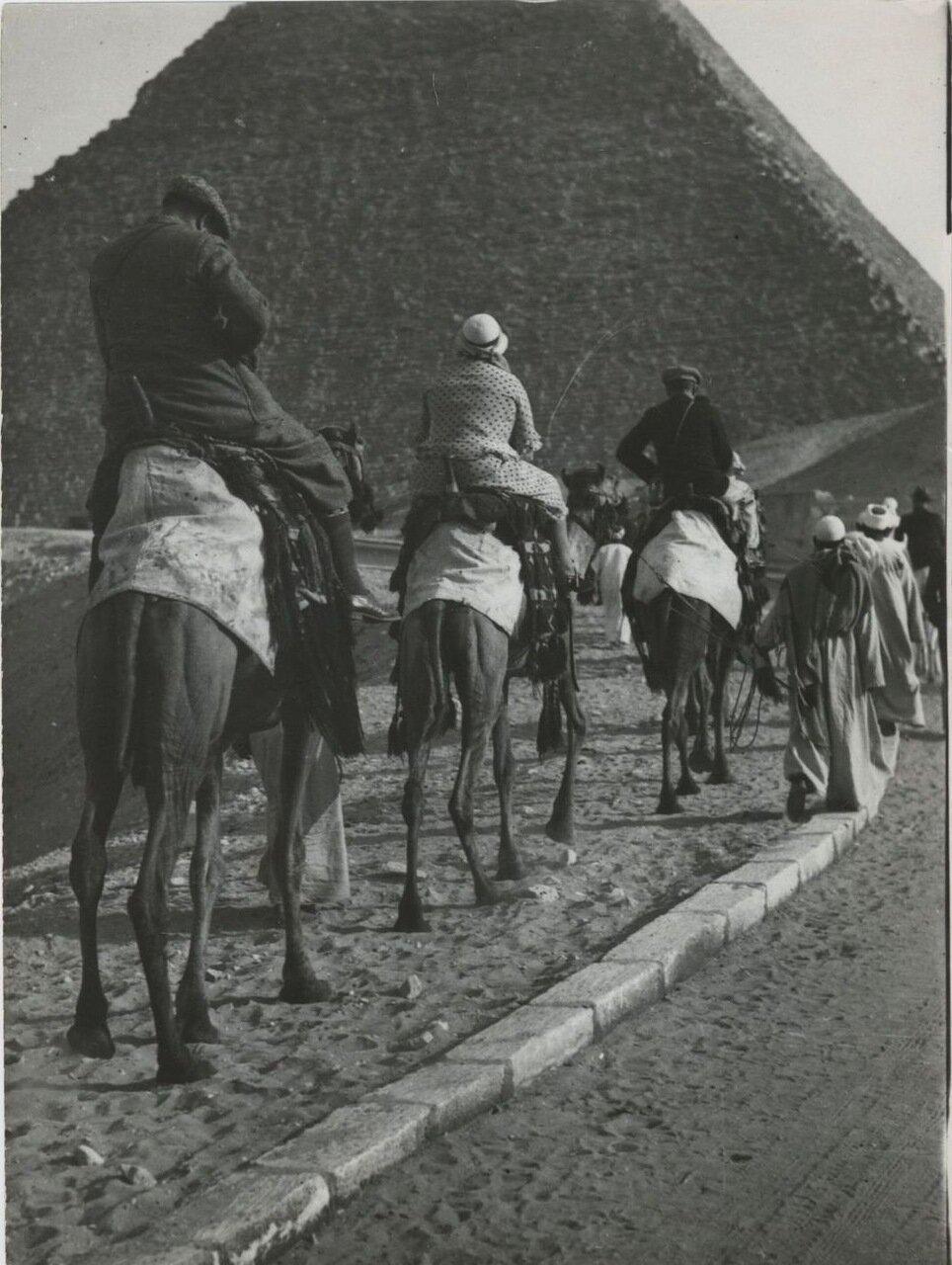 Гиза. Караван путешественников отправляется к пирамидам. 1960