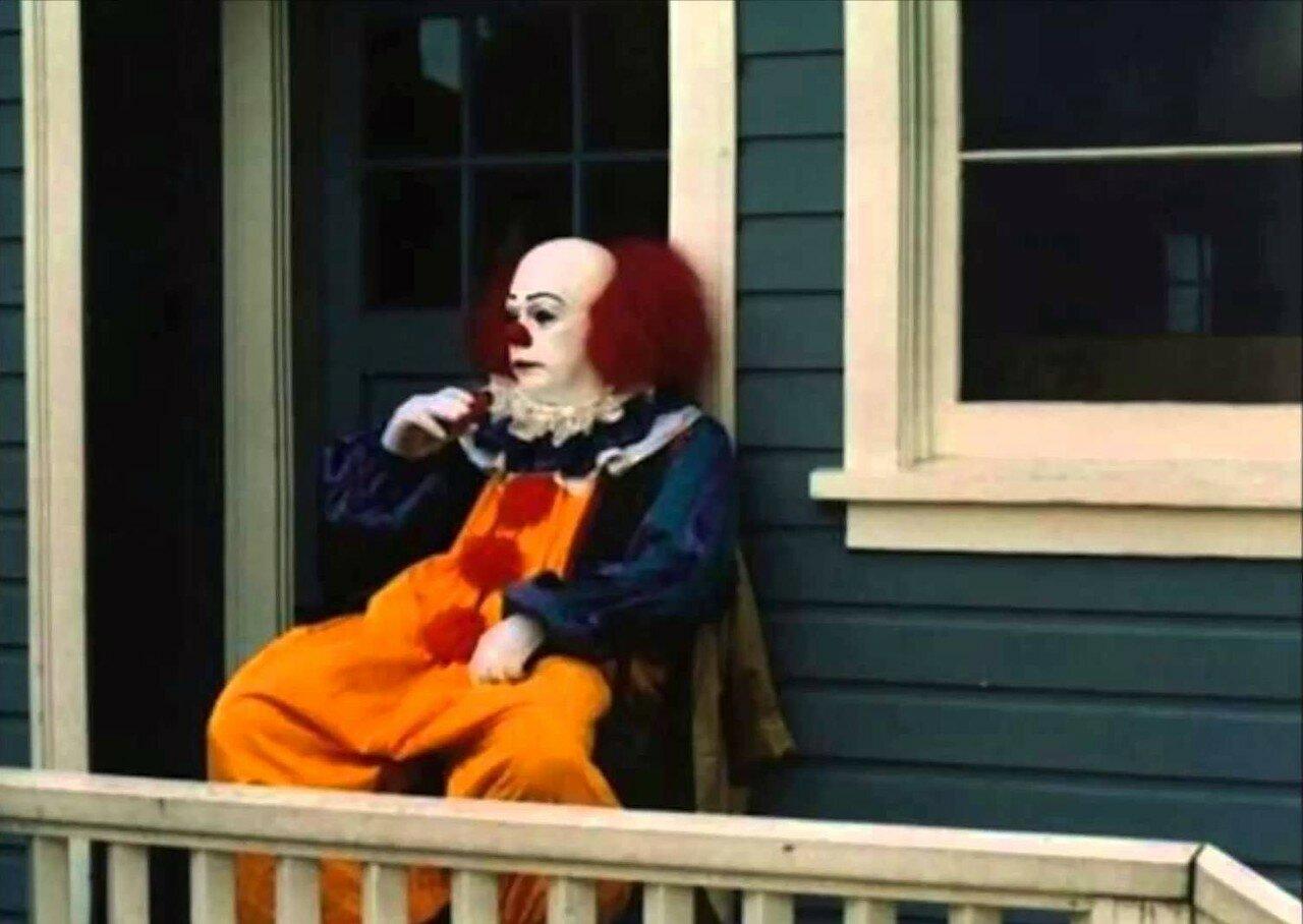 1990. Тим Кэрри в перерыве между съемками фильма «Оно»