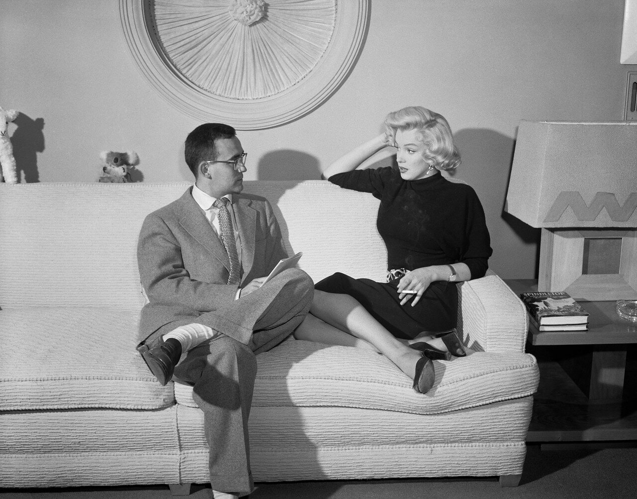 Vern Scott Interviewing Marilyn Monroe