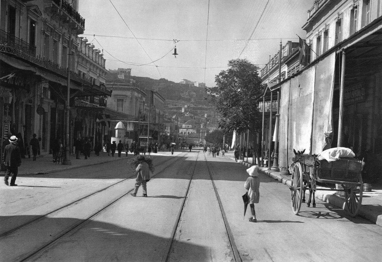 1920. Афины. Уличная сцена