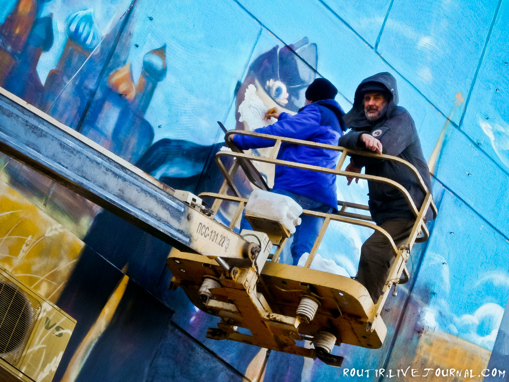 Реставрация лица Путина на Героев Севастополя