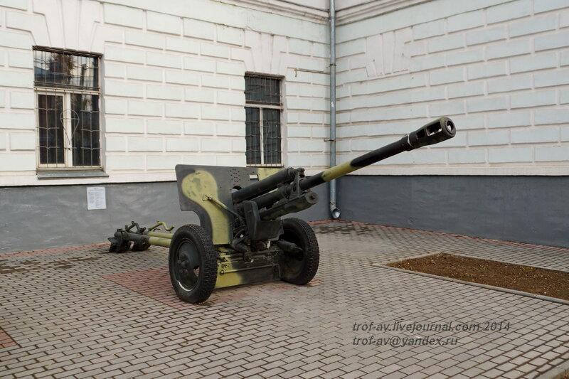 Пушка ЗИС-3, Выставка военной техники у музея истории ВДВ, Рязань