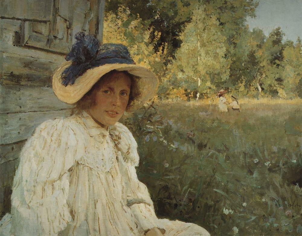 Летом (Портрет О.Ф.Серовой). 1895.jpg