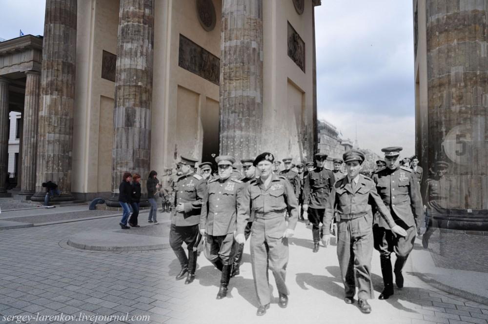 26 Берлин 1945-2010. Жуков, Рокоссовский и Монтгоммери у Бранденбургских ворот..jpg