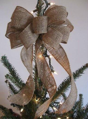 Новогодние украшения из мешковины