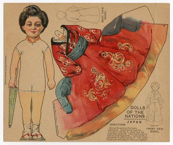 Бумажные куклы в национальных костюмах (ретро)