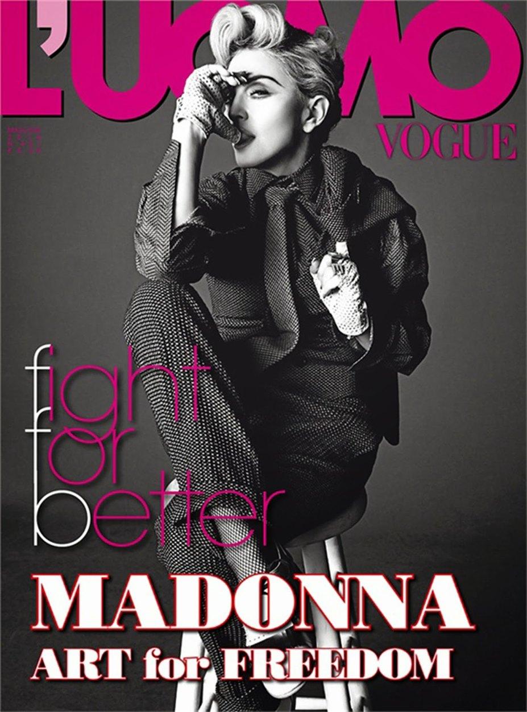 Искусство за свободу - обнаженная Мадонна / Madonna by Tom Munro in L'Uomo Vogue may-june 2014