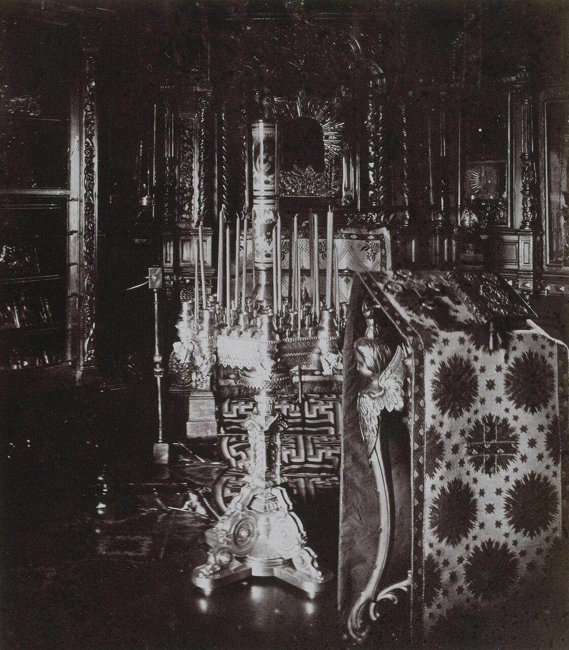 Часовня в домике Петра I на Петербургской стороне. 1872