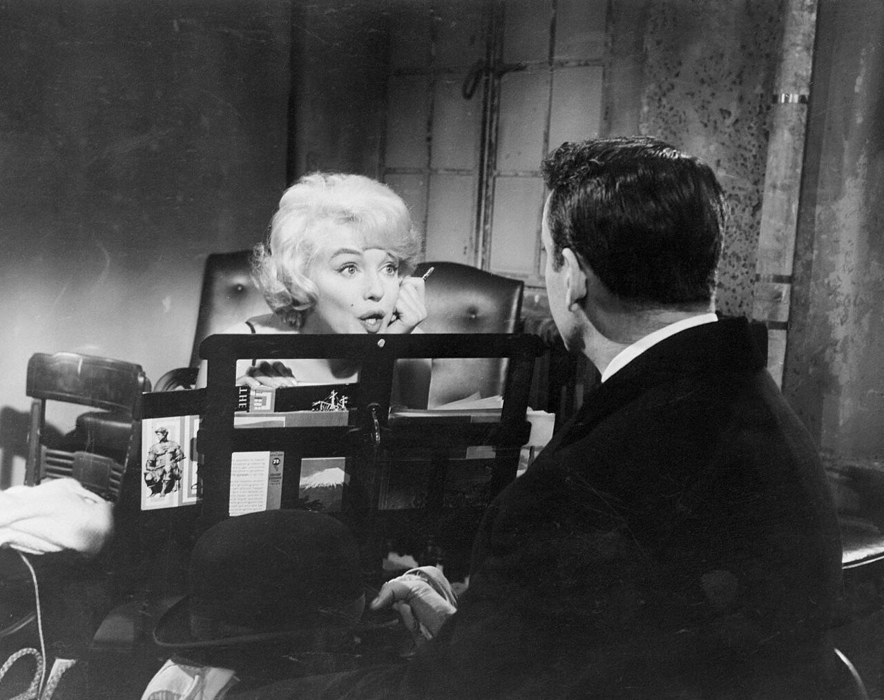 Marilyn Monroe and Yves Montand in <Let's Make Love>
