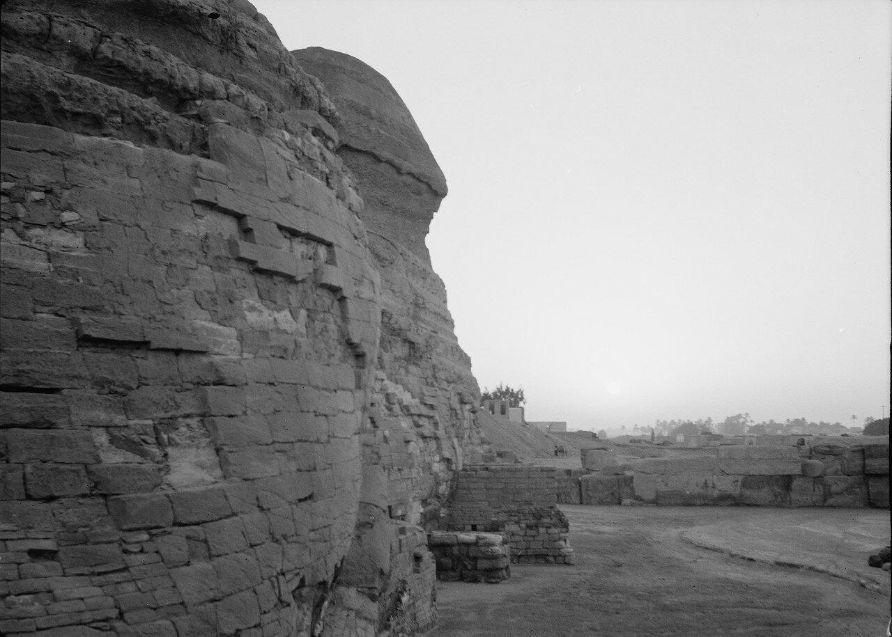 Гиза. Рассвет над Сфинксом и Пирамидами