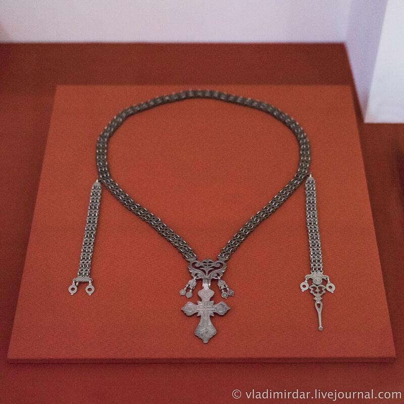 Крест наперсный. Якутия. Середина XIX в.