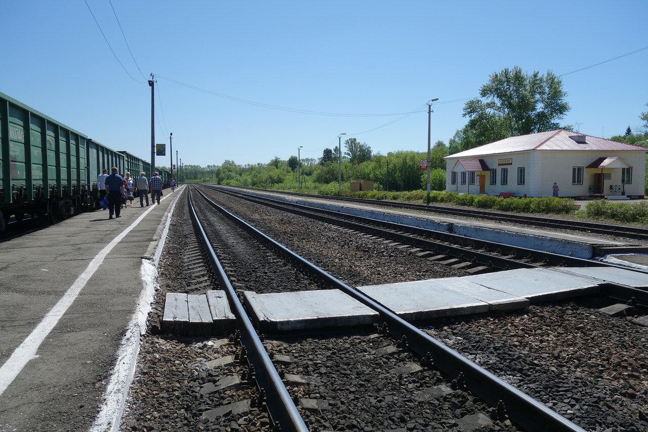 платформы и вокзал на станции Турдей Мск ЖД