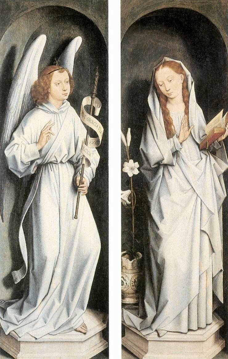 """Ханс Мемлинг. """"Триптих Вильяма Мореля"""" 1484 задние створки"""