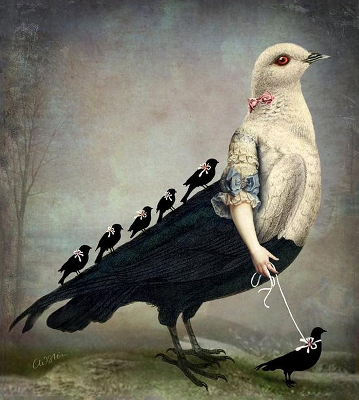 ещё попрошу фото человек с птицей картины все морепродукты