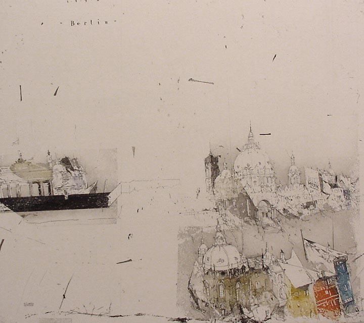 """""""Города, где я бывал..."""" Офорты и акварели ©Alexander Befelein"""