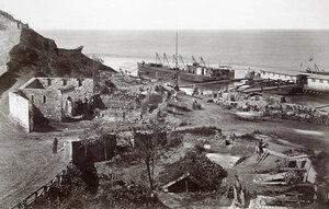 Укрепено военно пристанище на руската войска край Калафат, Румъния 1877 г.