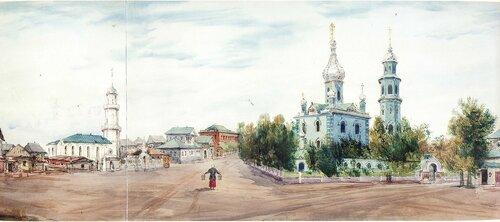 Челябинск в акварелях Пясецкого