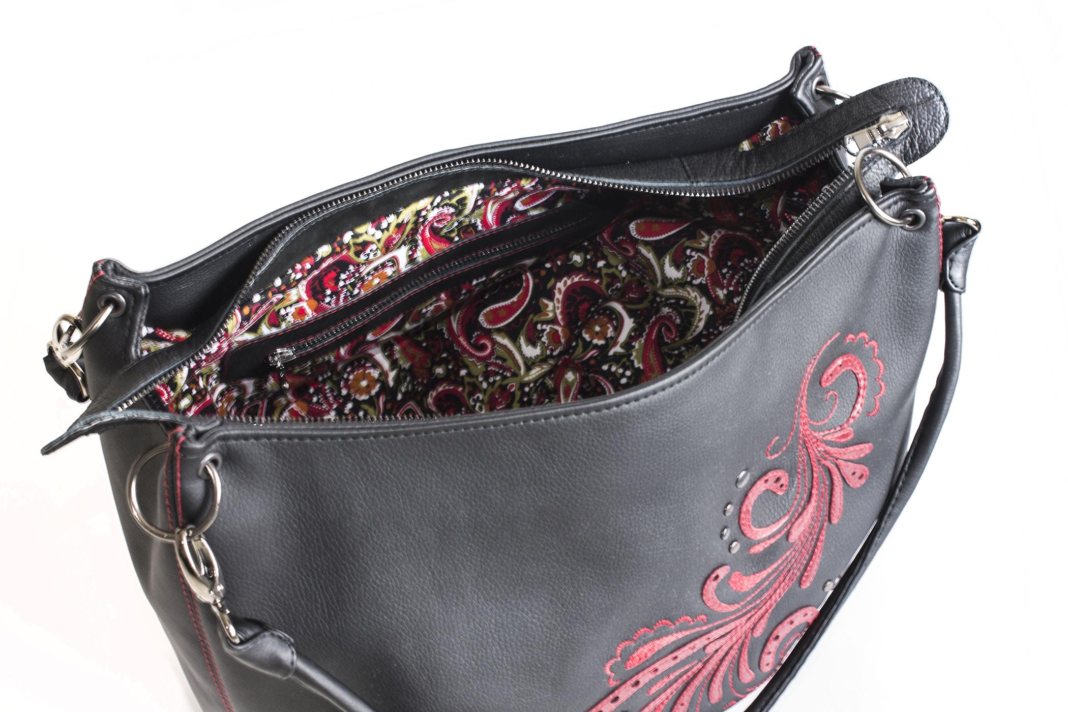 сумка с цветным подкладом