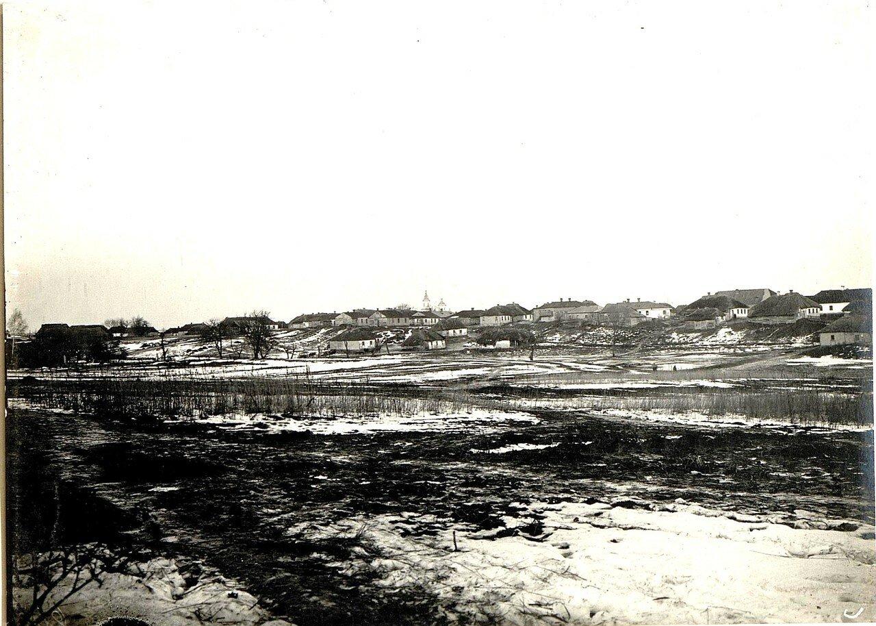 Острожец. Панорама села. 28 ноября 1915