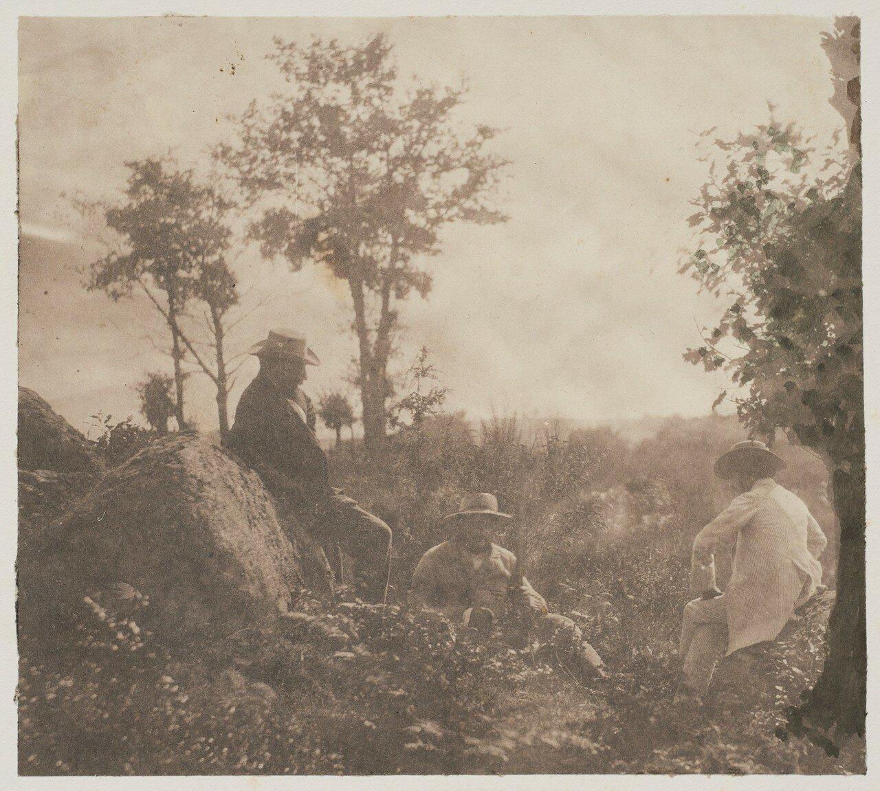1853. Художники и фотографы в лесу Барбизон