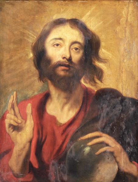 Anton Van Dyck, Christo Salvator mundi. Potsdam.jpg