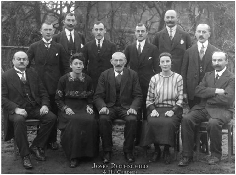Джозеф Ротшильд с семьей