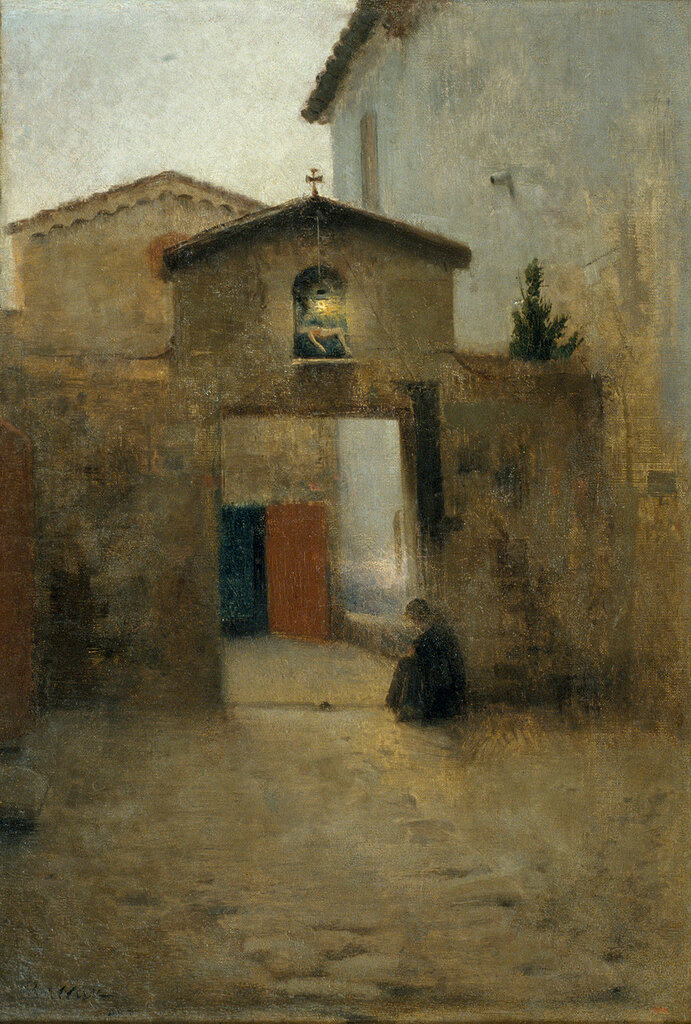 Barrau Bunol, Laurea - Одиночество, 1891, 56 cm x 41,5 cm, Холст, масло.JPG