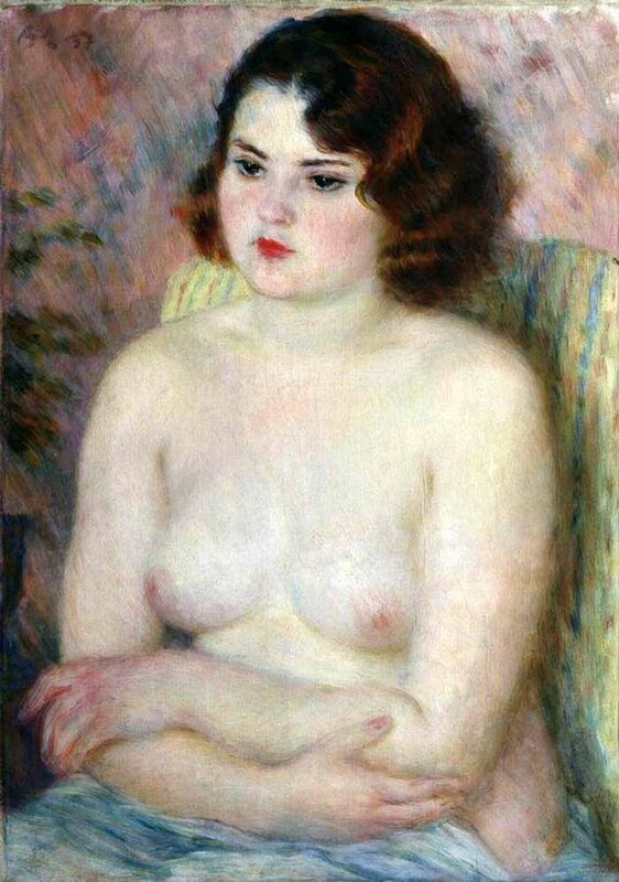 Обнаженная со скрешщенными перед грудью руками, 1937 г. | Nude with arms crossed on her chest, 1937